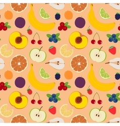 Fruits and berries seamless pattern 5 vector