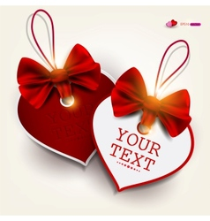 Valentines heart labels vector