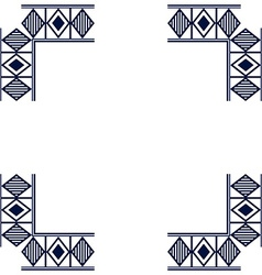 Frame with geometric patterns vector image