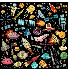 abstract of space vector image vector image