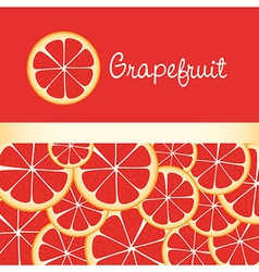 Background of grapefruit slices accommodated on ea vector