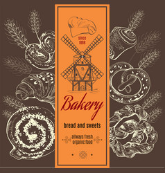 Bakery mill vector image