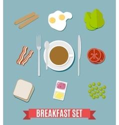 Breakfast small set vector