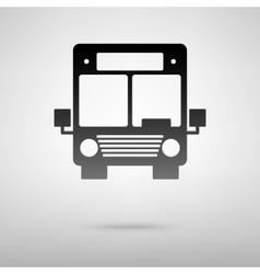 Bus black icon vector