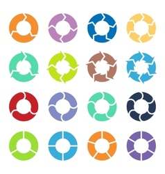 Circle arrows set vector
