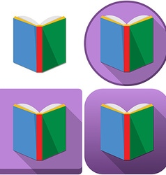 Colorful book icon pack vector