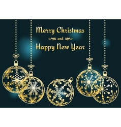 dark cyan Christmas and New Year background vector image