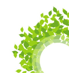 Design element with leaves vector