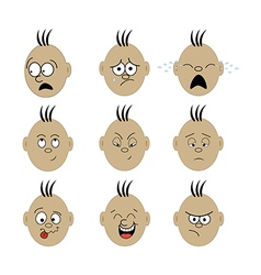 Emotions face vector