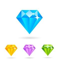 Flat diamonds vector image vector image
