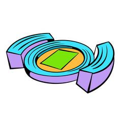 Football soccer stadium icon icon cartoon vector