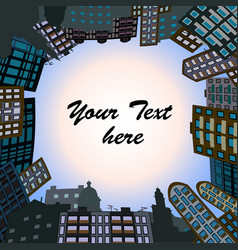 Frame from city building vector
