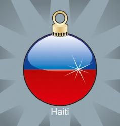 Haiti flag on bulb vector image