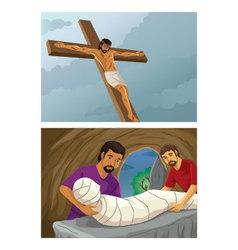 Jesus cross vector