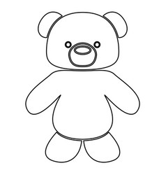 Little bear black color path icon vector