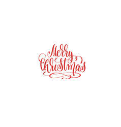 merry christmas hand lettering holiday inscription vector image