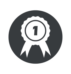 Monochrome round 1st place icon vector