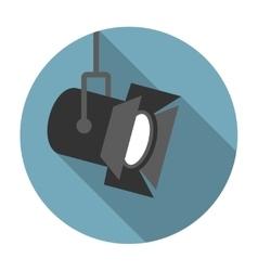 Movie spotlight flat icon vector