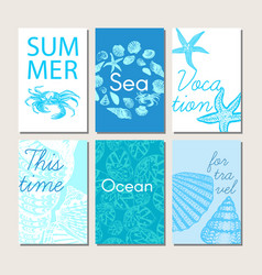 ocean and sea nature life brochures vector image