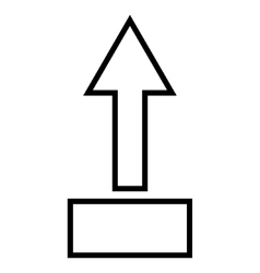 Pull arrow up outline icon vector