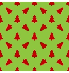 Red christmas tree on a green background vector