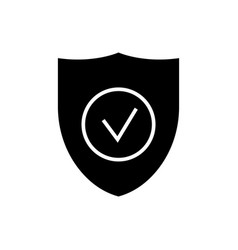 secure shield icon black vector image