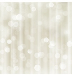 Silver beige holiday Christmas bokeh light vector image