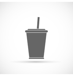 Soda with straw icon vector image vector image