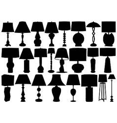 table and floor lamps vector image vector image