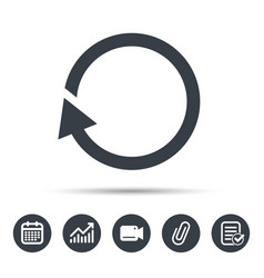Update icon refresh or repeat sign vector