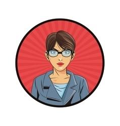 woman pop art comic design vector image