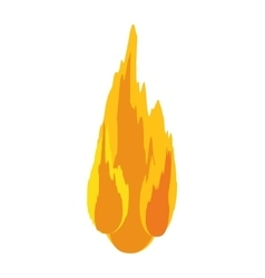Flame fire orange yellow icon graphic vector