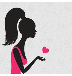 Young woman in love vector