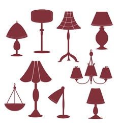 Lams silhouette with patterns vector