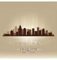Charlotte north carolina skyline city silhouette vector