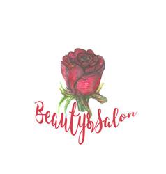 rose design for spa boutique beauty salon vector image