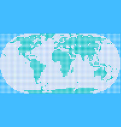 square dot world map vector image