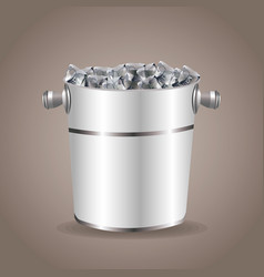 ice bucket beverage equipment vector image