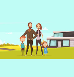 Happy amicable family design concept vector