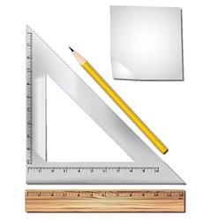 Math equipment vector image