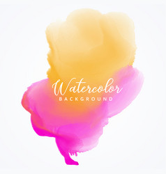 Watercolor paint stain background vector