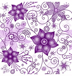 Seamless spring white pattern vector image