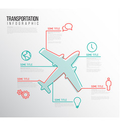 Infographic transport report template vector