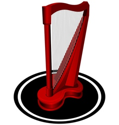 Small red harp vector