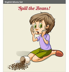 A girl spilling the beans vector