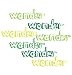 Art hand drawn text wonder vector