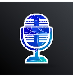 Microphone icon broadcasting isolated journalist vector