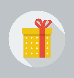 Christmas flat icon gift vector