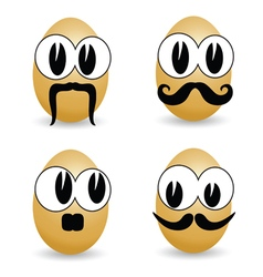 Egg cartoon face vector