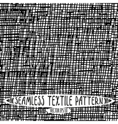 Seamless ink drawn textile pattern vector